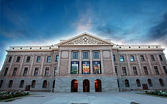 Arizona State Capitol - Front view of the original capitol building (2014)