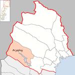 Lage der Gemeinde Arjeplog