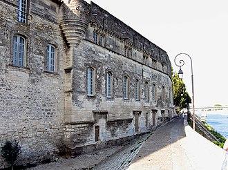 Musée Réattu - North facade of the Museum, facing the Rhône