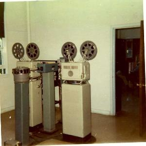 Film chain - Film Chain with 16mm projectors and a slide wheel at Armed Forces Radio and TV AFRN - AFRTS station WVCX/WVCQ