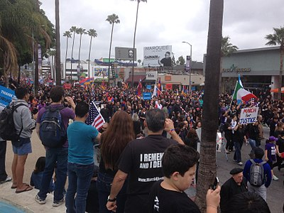 Armenian genocide massive march in LA.JPG