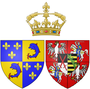 Arms of Marie Josèphe of Saxony as Dauphine of France.png