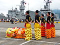 Army Academy R.O.C. Lion Dance Team Standby at Border of Ground in Afternoon 20130504.jpg