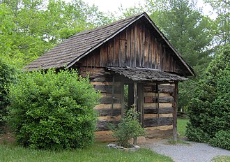 National Register of Historic Places listings in Anderson County, Tennessee - Image: Arnwine cabin tn 1
