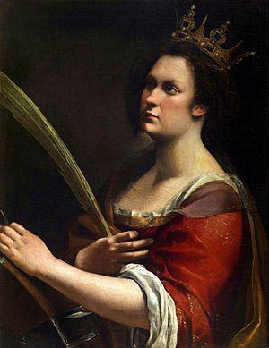 Saint Catherine Of Alexandria Artemisia Gentileschi