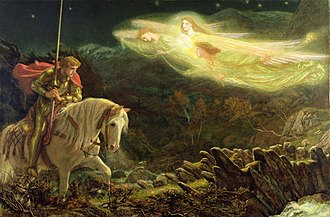 Holy Grail - Sir Galahad, the Quest for the Holy Grail by Arthur Hughes (1870)