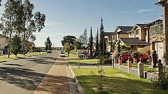Prestons, New South Wales - Ash road.