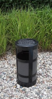 Cigarette receptacle Container for discarding cigarette waste