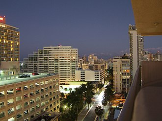Condado (Santurce) - Skyline of El Condado at night