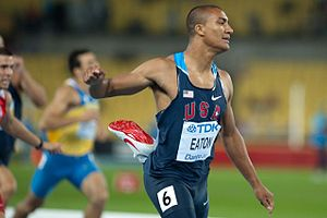 Ashton Eaton - Eaton at the 2011 World Athletics Championships