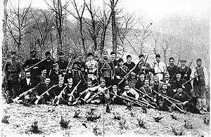Chetniks - Association against Bulgarian Bandits, between 1922 and 1925.