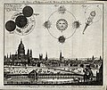 Astronomy; a view of London in 1748, with diagrams of an ecl Wellcome V0024734.jpg