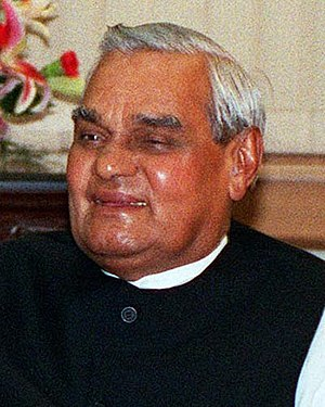 Indian general election, 2004 - Image: Atal Bihari Vajpayee 2002 06 12