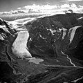 Athabasca Glacier, Calving Glacier Terminus and Side Valley Glacier, August 21, 1964 (GLACIERS 1667).jpg