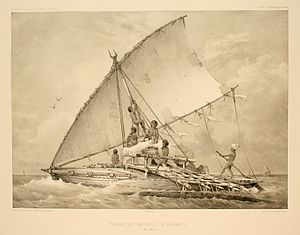 Camakau - 1846 drawing of the boats from Fiji