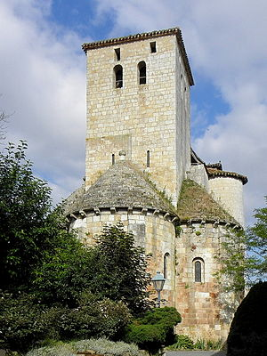 Aubiac, Lot-et-Garonne - The church in Aubiac