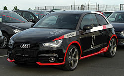 Audi A1 1.2 TFSI Ambition S-line competition kit legends – Frontansicht, 8. Mai 2011, Velbert.jpg