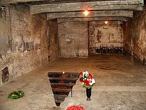 Auschwitz I gas chamber memorial