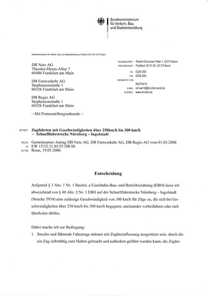 File:Ausnahmezulassung 300 kmh 2006-05-19.pdf