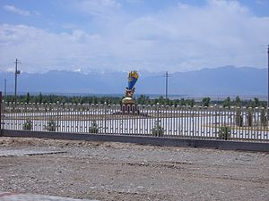 Zhangye - Near Aviko french fry factory in Liuba Town, Minle County, Zhangye