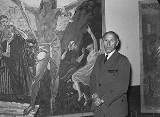Axel Revold - Axel Revold at the Kunstnerforbundet in Oslo (1946)