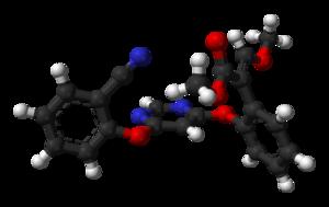 Azoxystrobin - Image: Azoxystrobin from xtal 3D balls