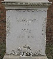 Foundation of the memorial to Albert at Spandau Citadel.