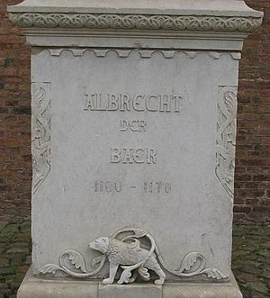 Albert the Bear - Foundation of the memorial to Albert at Spandau Citadel.