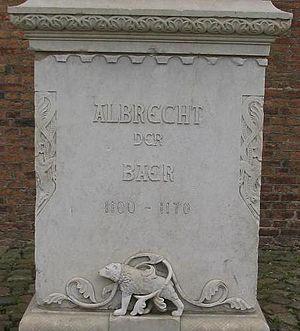 Albert the Bear - Foundation of the memorial to Albert at Spandau Citadel.
