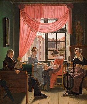 Emil Bærentzen - Image: Bærentzen Familiestykke 1828