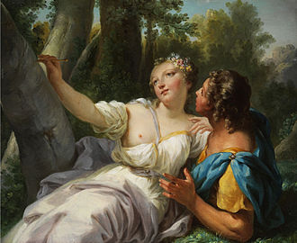 Orlando furioso (Vivaldi) - 18th-century depiction of Angelica and Medoro whose marriage in act 2 drives Orlando into a rage