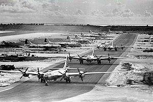 462d Air Expeditionary Group - B-29s of the 462d at West Field Tinian 1945