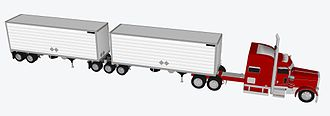 Long combination vehicle - B-train 33-foot trailers