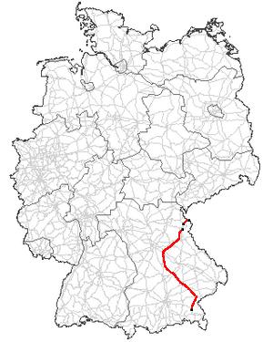 Bundesstraße 299 - Image: B299 Verlauf