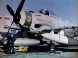BOAR - BOAR being loaded on AD-7 Skyraider
