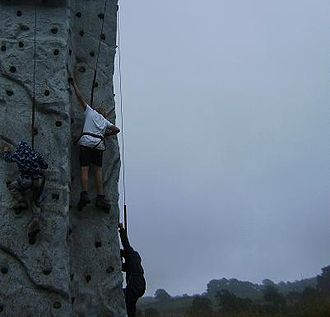 Baden-Powell Scouts' Association - BPSA Scouts developing climbing skills, August 2008