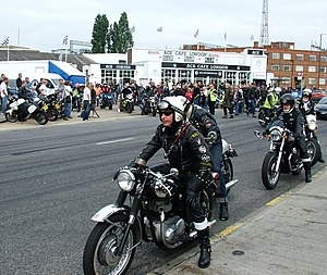 Biker bar - BSA riders at an Ace Cafe reunion in 2007