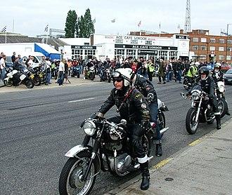 Biker bar - BSA riders at an Ace Cafe reunion in 2007