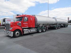 Tank truck - B double tanker