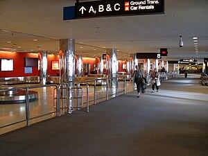 Baggage reclaim - Baggage reclaim area at the Baltimore-Washington International Thurgood Marshall Airport.