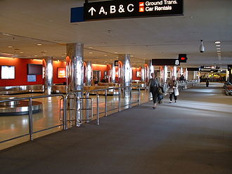 Baggage reclaim - Baggage reclaim area at the Baltimore-Washington International Thurgood Marshall Airport.