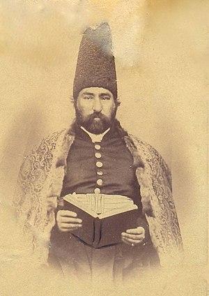 Bahman Mirza Qajar - Portrait of Bahman Mirza taken in Karabakh, 1862.