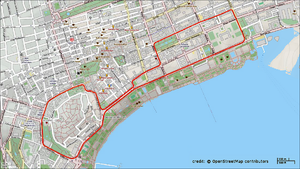 Baku City Circuit - The layout of the 6 km circuit in the city of Baku
