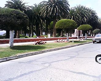 2010 Pichilemu earthquake - The Agustín Ross Park balustres were destroyed after the earthquake.