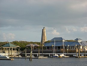 Bald Head Island Marina with Old Baldy.JPG