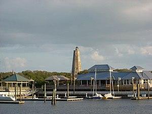 Bald Head Island, North Carolina, marina with ...