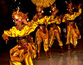 Bali Dancers Balinese Dance - Yellow Gold Silk.jpg