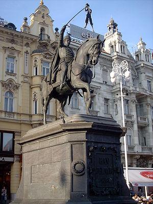 Anton Dominik Fernkorn - Statue of ban Josip Jelačić in Zagreb