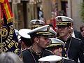 Banda, músicos y estandarte, Coronación de la Virgen de la Estrella, Toledo, España, 2015.JPG