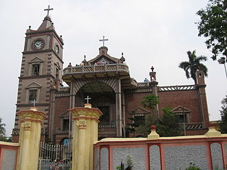 Chinsurah subdivision - Bandel Chaurch, founded in 1599, by the Portuguese, the oldest place of Christian worship in Bengal